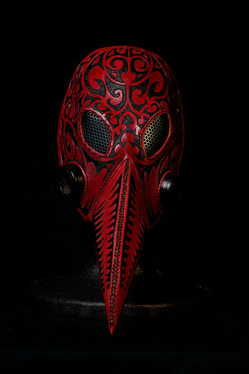 "Leather half mask""RED"""