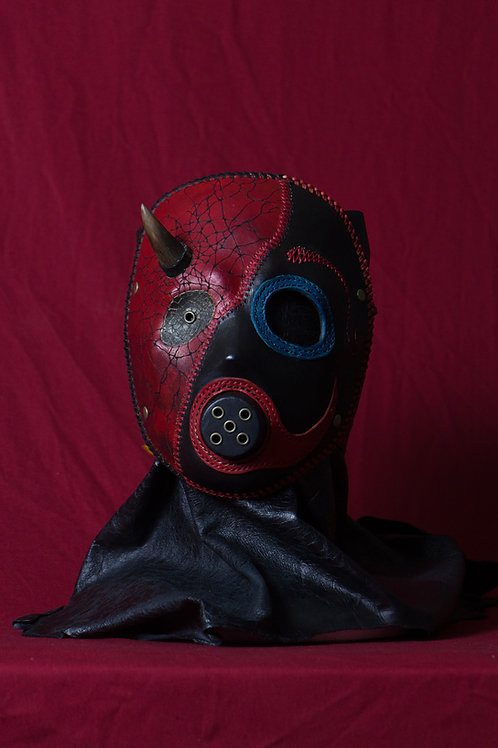 "Leather half mask""Duality"""