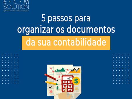 5 passos para organizar documentos da sua contabilidade.