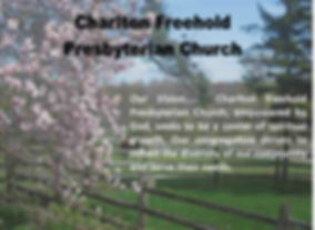 vision statement with spring background