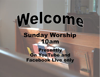 Welcome Sun Worship 10am YouTube FB only