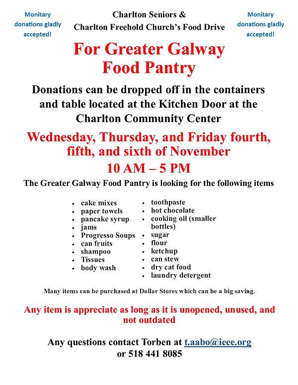 Charlton Seniors and CFPC food drive 202