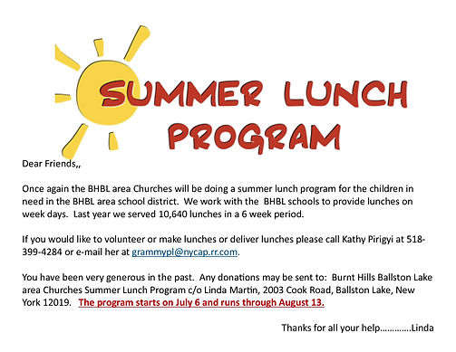 Summer Lunch Program promo sponsored by