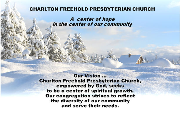 Vision statement winter background for W