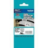 "Brother TZeFX251 24mm (0.94"") Black on White Flexible ID Tape, 8m (26.2 ft)"