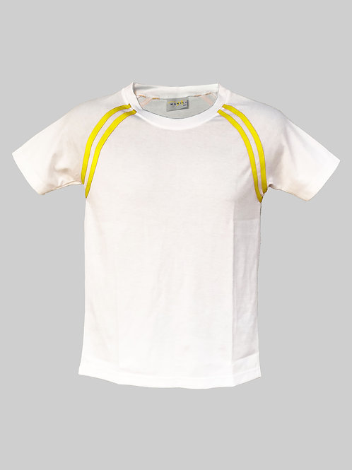 Crew Neck Tee (Yellow Stripe)