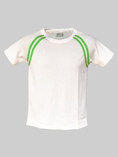 Crew Neck Tee (Green Stripe)