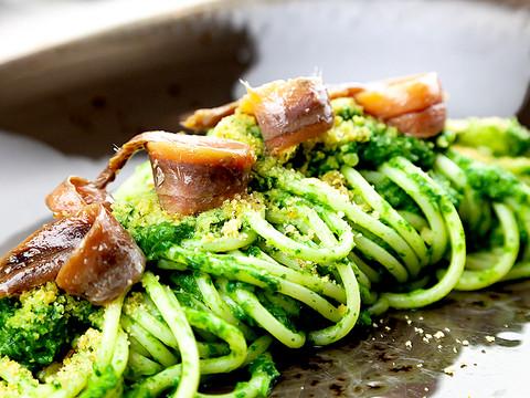 Spaghettone con cime di rapa