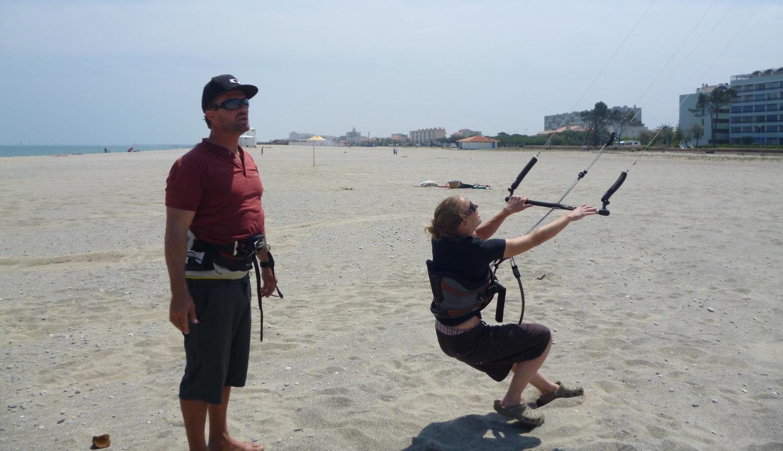 stage de kitesurf à Canet