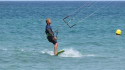 Stage hydrofoil kitesurf