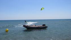 Spot isolé avec sécurité bateau