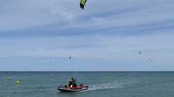 Navigation surveillée kitesurf