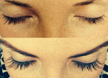 Love Your Lashes before and after