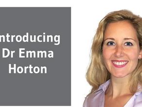 Introducing Dr Emma Horton!