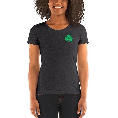 Lucky Lindy Leopard - Ladies' short sleeve t-shirt