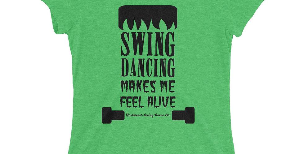 Frankenstein Halloween Ladies' short sleeve t-shirt