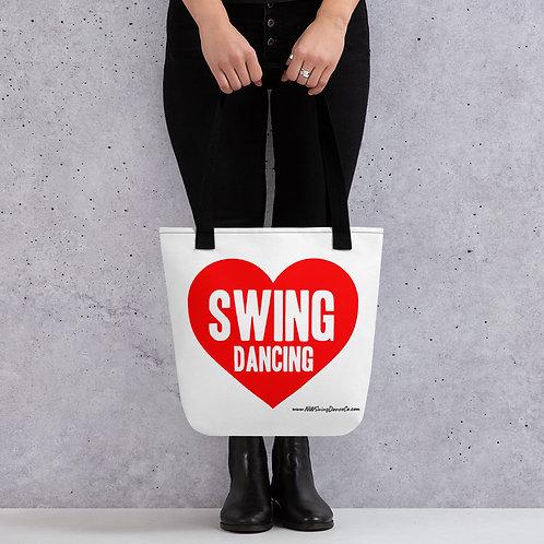 Love Swing Dancing Tote bag