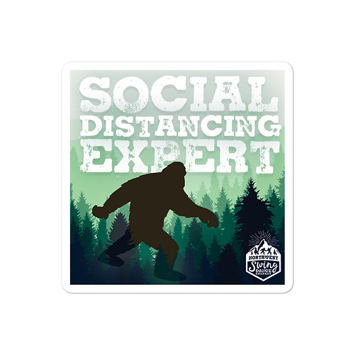 Social Distancing Expert Sticker