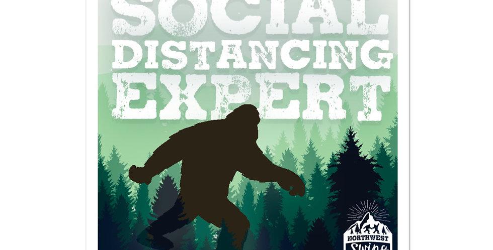 Social Distancing Expert Sticker
