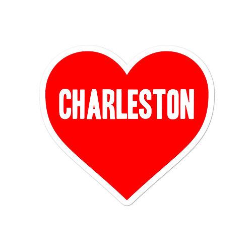 Love Charleston Bubble-free stickers