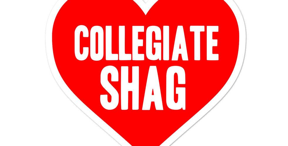 Love Collegiate Shag Bubble-free stickers