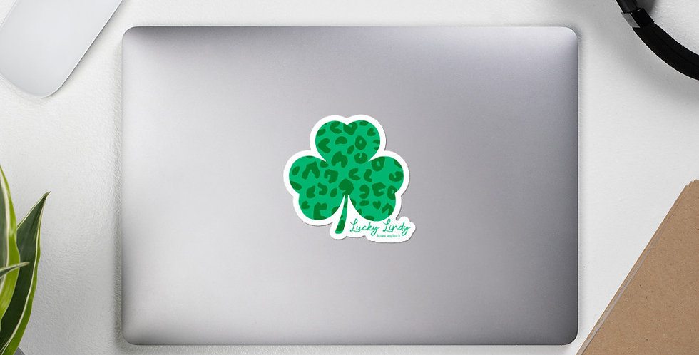 Lucky Lindy Leopard Bubble-free stickers