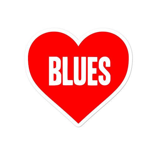 Love Blues Bubble-free stickers