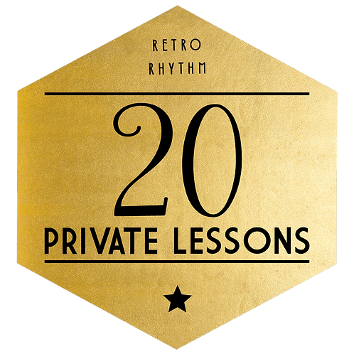 Package of 20 Private Lessons - SAVE $575!