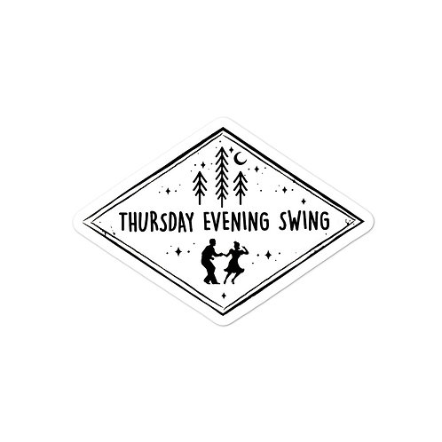 Thursday Evening Swing {B&W} Sticker