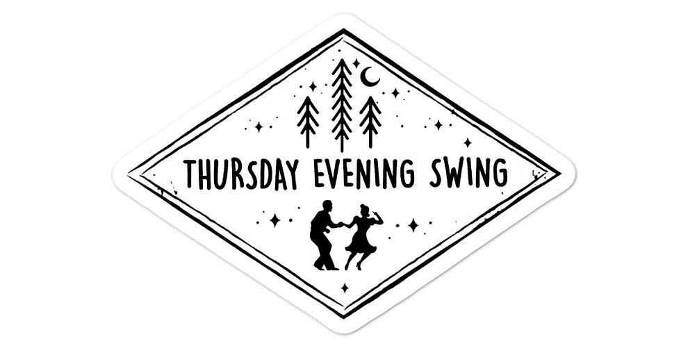 Thursday Evening Swing {B&W} Sticker
