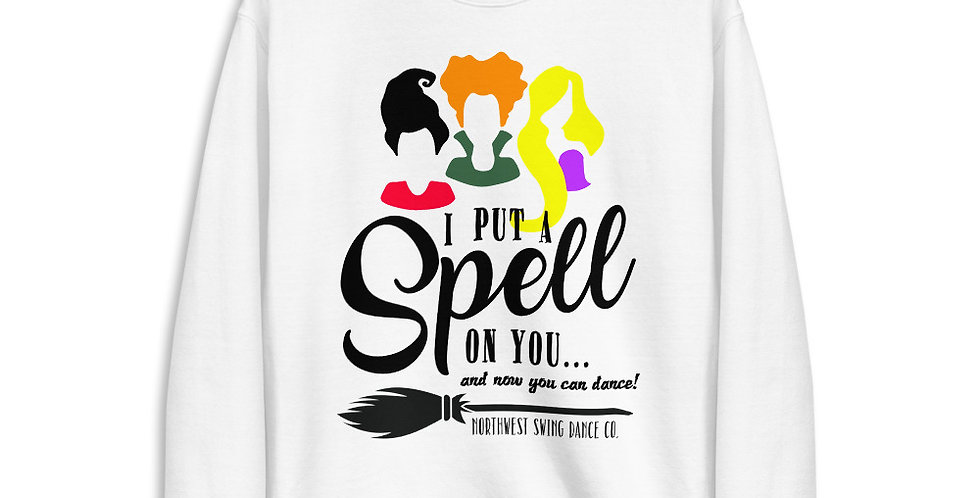 I Put A Spell On You Halloween Unisex Fleece Pullover