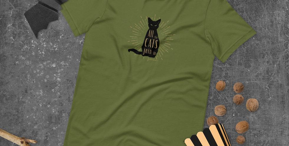 Black Cat Halloween Short-Sleeve Unisex T-Shirt