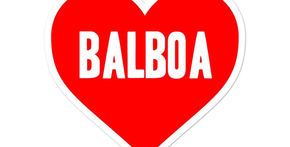 Love Balboa Bubble-free stickers