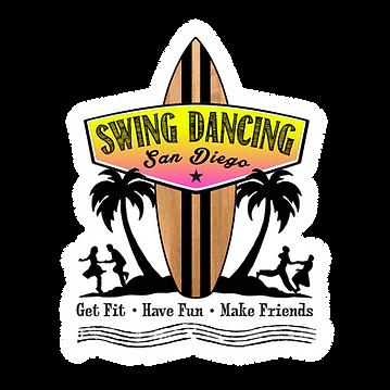 SDSD Surf Logo - Black with White Border