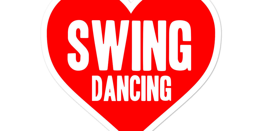 Love Swing Dancing Bubble-free stickers