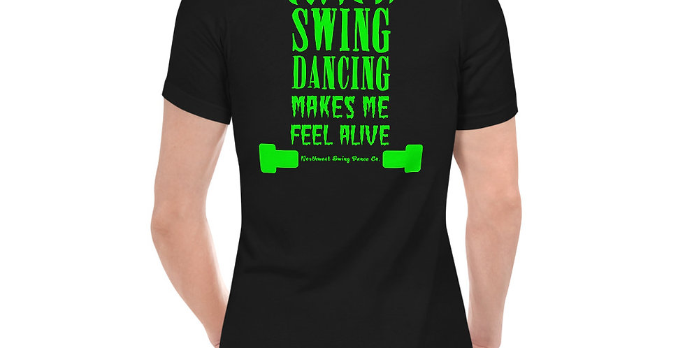 Frankenstein Halloween Unisex Short Sleeve V-Neck T-Shirt