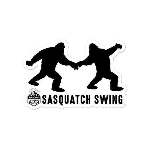 Sasquatch Swing Sticker