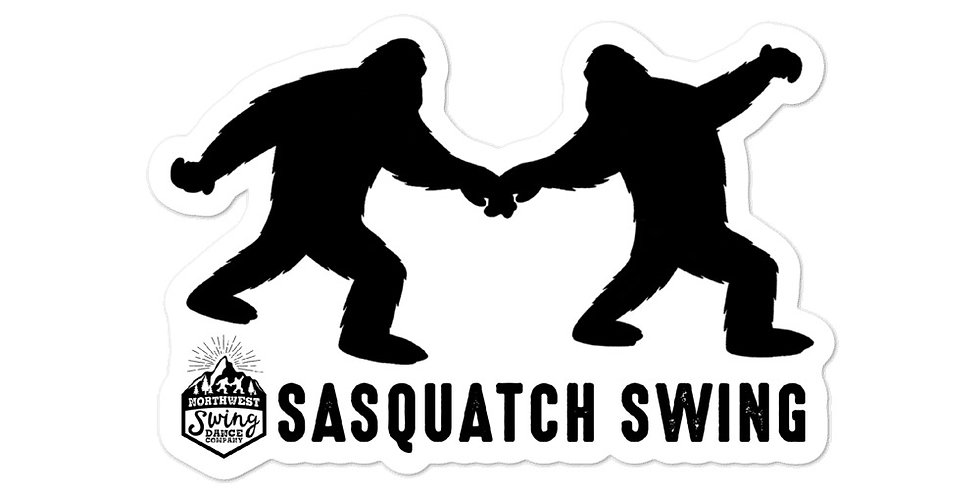 Sasquatch Swing Sticker