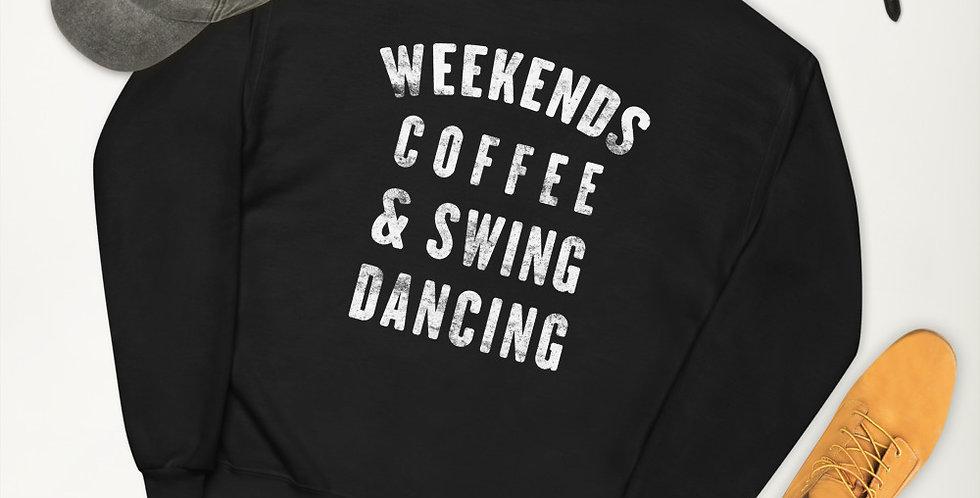 Weekends, Coffee, & Swing Dancing Unisex fleece sweatshirt