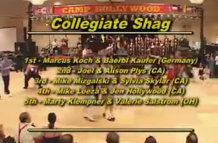 Joel Plys & Alison Scola - Collegiate Shag Finals at Camp Hollywood