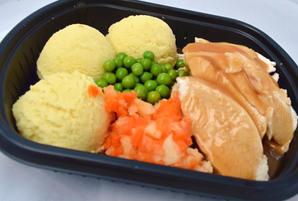 Roast Chicken w. Mash, Stuffing & Veg