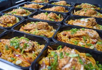 Salt and Chilli Chicken w. Noodles