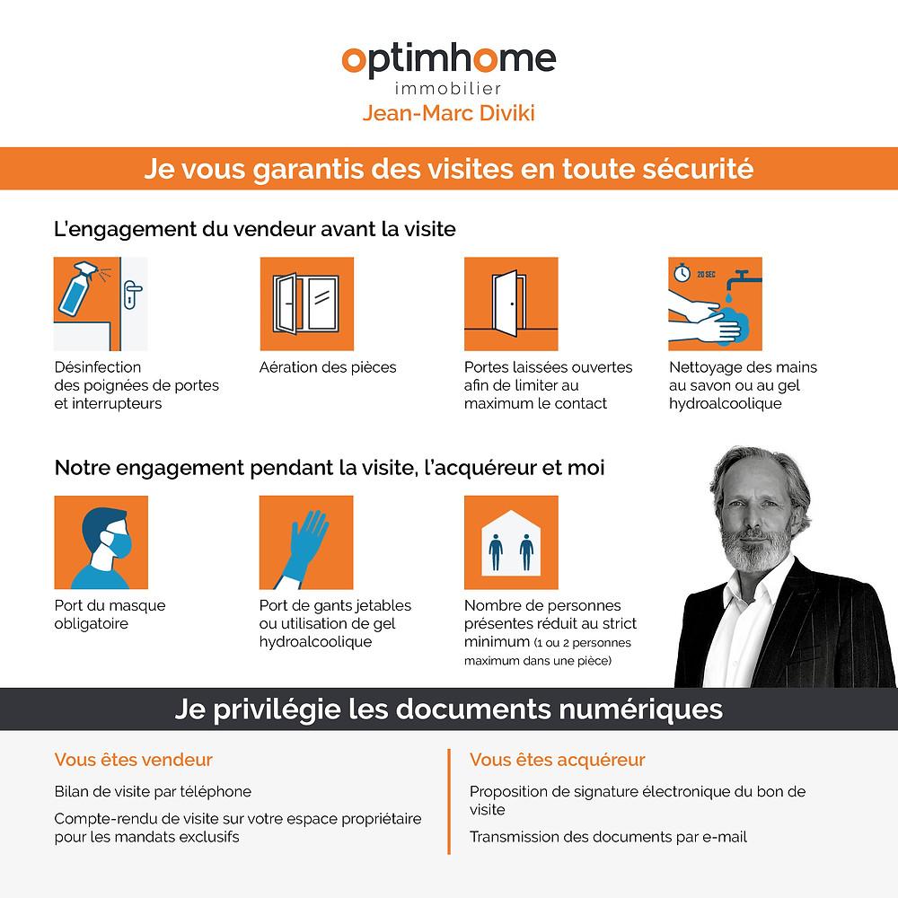 Sécurité des visites immobilières Jean-Marc Diviki Optimhome immobilier à Cannes, Le Cannet, Mougins et Mandelieu
