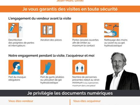 Mise en œuvre d'un protocole de sécurité sanitaire lors des visites !