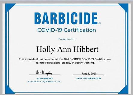 Certificates | Holly Ann Bridal Makeup & Hair Artist | England
