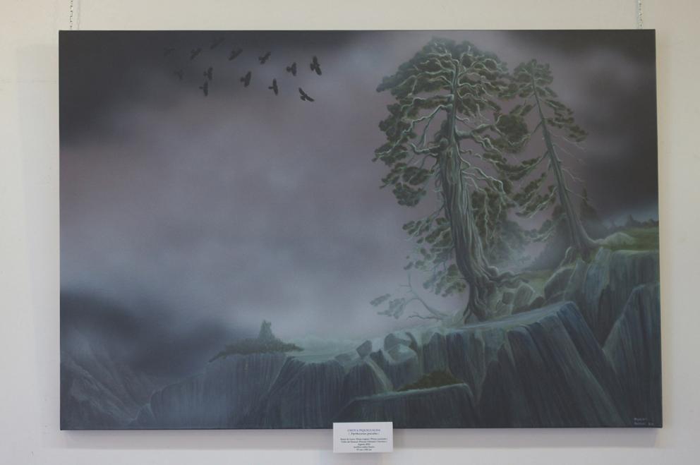Chovas y Pino Negro (150 x 95 cms )