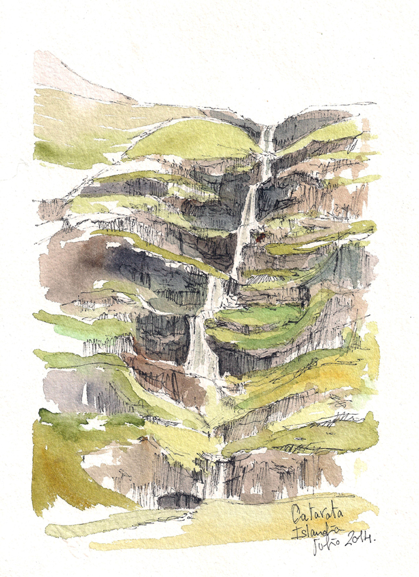 Catarata en Islandia