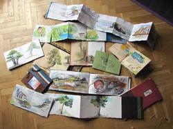 Collage cuadernos de viaje