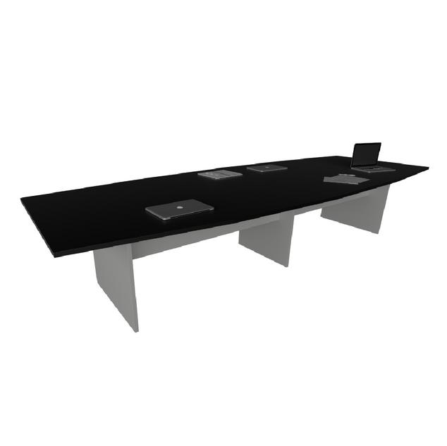 Mesa de Reunião com Tampo Bote e Pé Painel de 40 x 40 mm