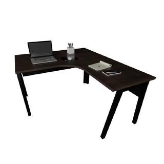 """Mesa de Trabalho em """"L"""" com estrutura de 40 x 40 mm cavalete e painel frontal"""